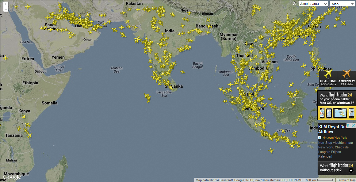 tracking gps ads-b acars aircraft FlightRadar24