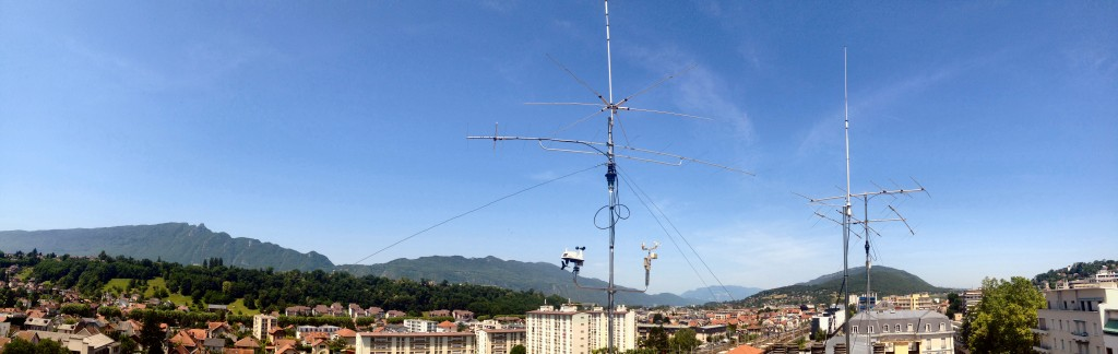 beam and antenna on my roof on seven floor in aix les bains France